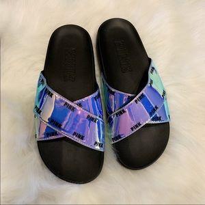 PINK Victoria's Secret Iridescent Sandals S7